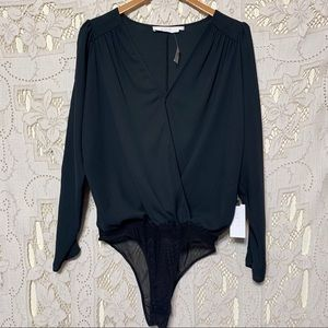 Astr the label sheer top body suit size Large BNWT